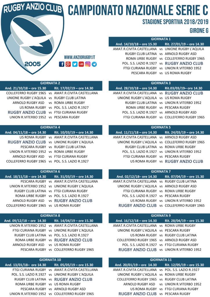 Calendario Serie A 15 Ottobre.Diramato Il Calendario Della Serie C1 L Esordio Dell Anzio
