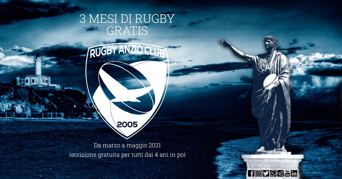 3 mesi di rugby gratis