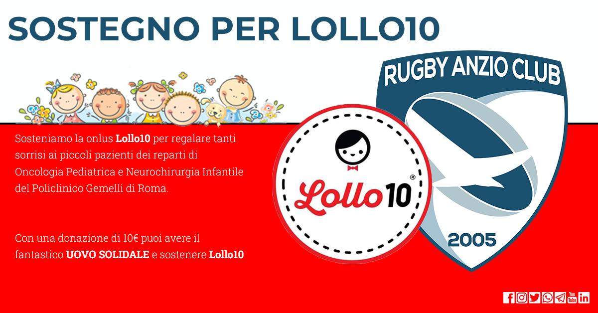 Il rugby Anzio Club sostiene Lollo10